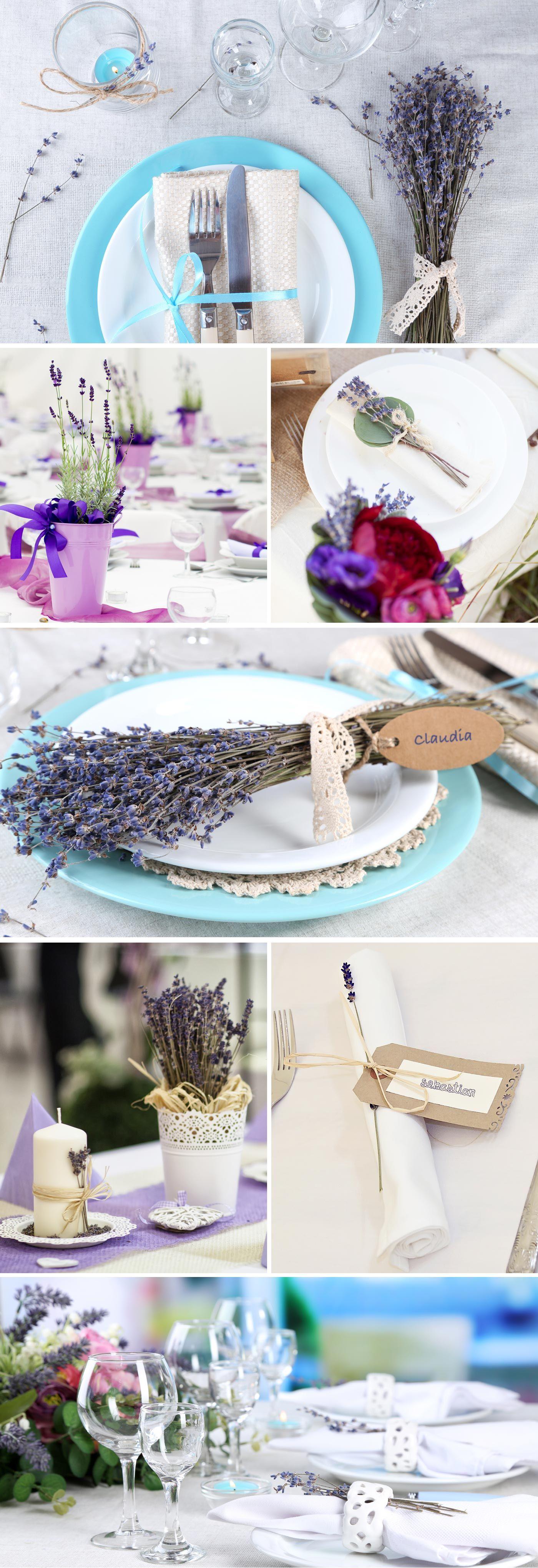 Hochzeitsdeko lavendel tischdekoration zur hochzeit for Tischdeko frankreich ideen