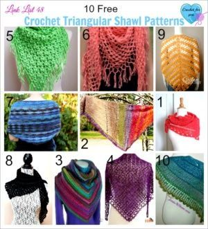 10 Free Crochet Triangular Shawl Patterns | CrochetStreet.com