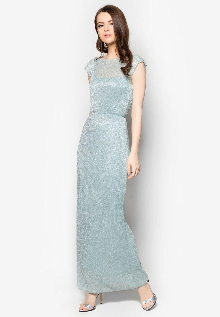 Buy Miss Selfridge Petites Shimmer Maxi Dress | ZALORA HK | annex ...