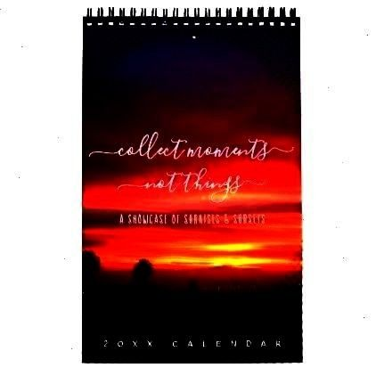 Page Calendar -Sunsets Quotes Landscape Photos One Page Calendar -  Edited witLandscape Photos One