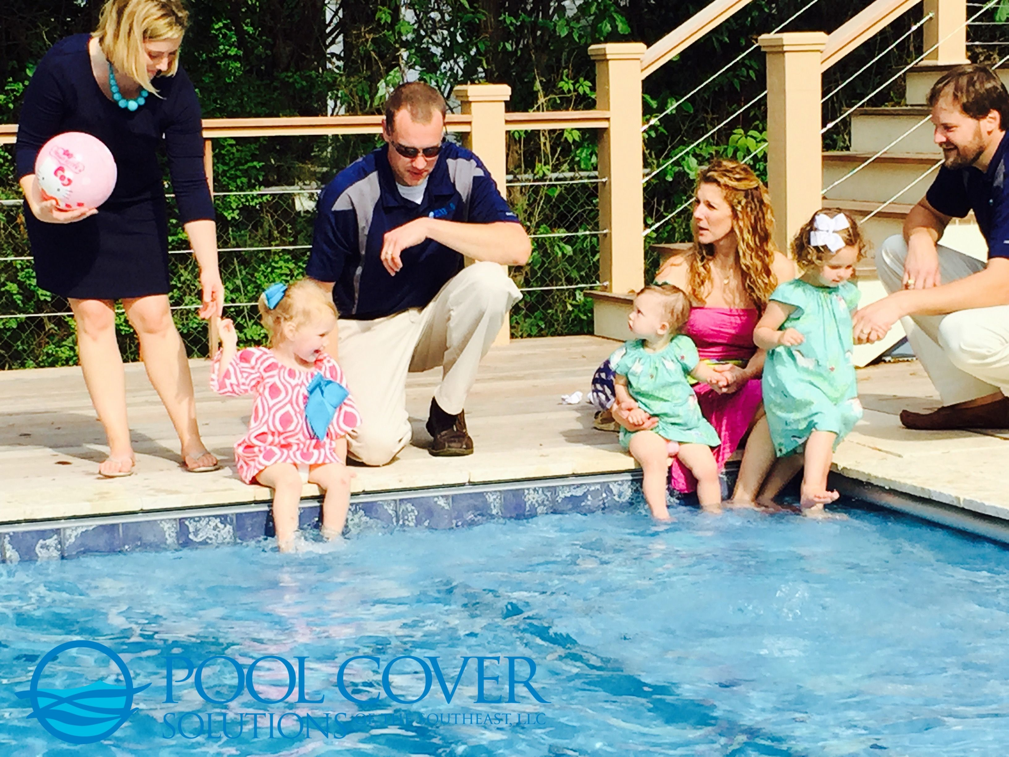 Pool with automatic pool cover. Add additional layer of protection.  Protect what matters.