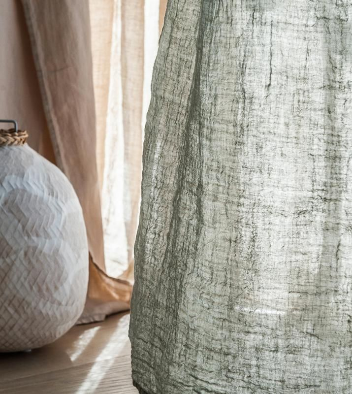 850ee1c1f05 Hemp curtains. See through curtains. Bed room curtains. Natural color  curtains.