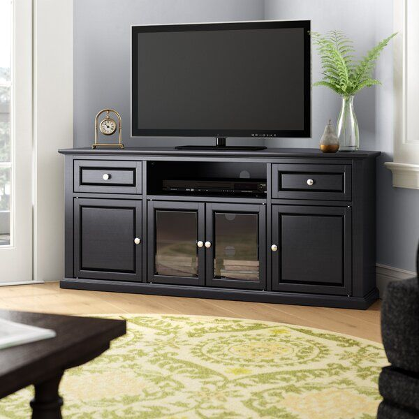 Whittiker Corner Tv Stand For Tvs Up To 65 In 2020 Corner Tv Stand Corner Tv Corner Tv Stands