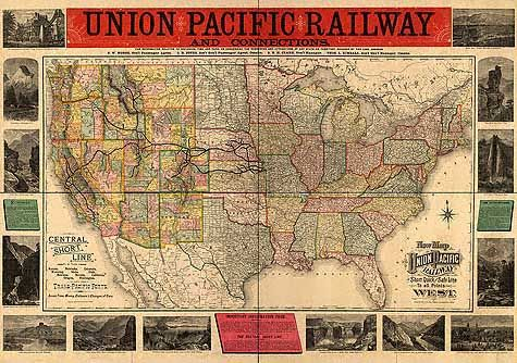 Central Pacific Railroad Maps | Transportation | Pinterest | Central ...