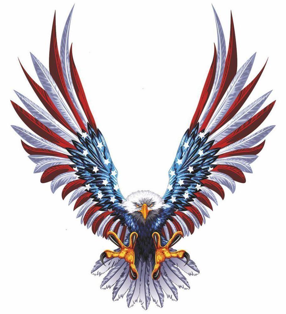 Car sticker eagle - Details About Sticker Decal Car Bike Bumper Usa Eagle Tuning United States Flag Macbook