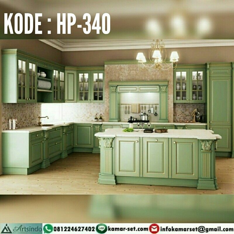Desain Kitchen Set Klasik Kolonial Hp 340 By Furniture Jepara