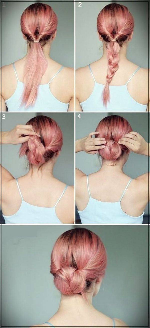 45 Quick And Easy Updo Tutorials For Medium Hair Long Hair Updo Medium Hair Styles Hair Bun Tutorial