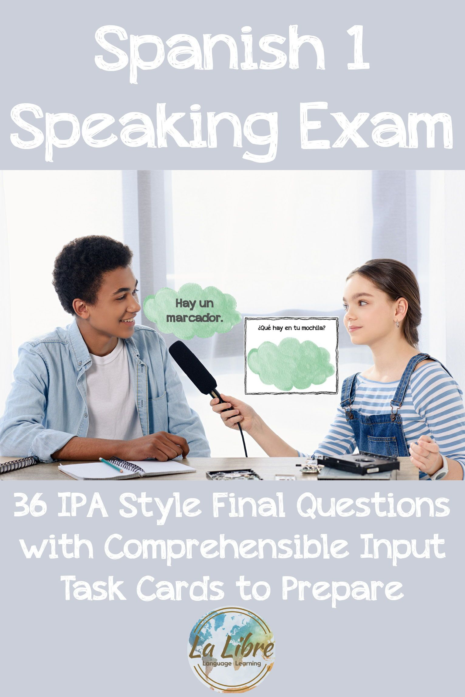 Spanish 1 Editable Speaking Final Exam With Review