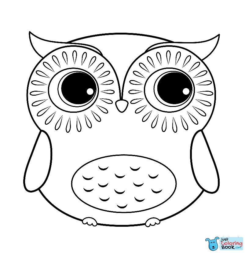 Cartoon Owl Coloring Page Free Printable Coloring Pages With Cartoon Owl Coloring Pages Owl Coloring Pages Cartoon Coloring Pages Cute Easy Animal Drawings