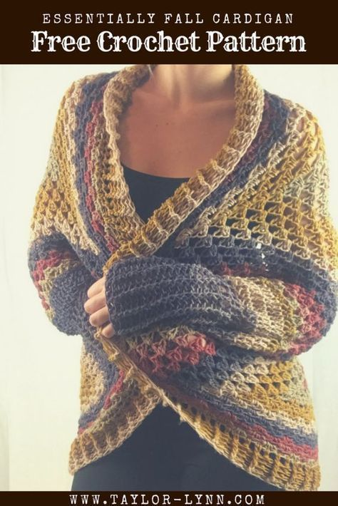 Crochet Cardigan Pattern Simple Shrug Style Using Mandala Yarn I Best Mandala Yarn Patterns