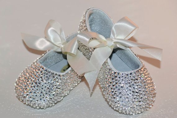 4ab3afec37a0 Baby Rhinestone Shoes Swarovski Crystal Baby Shoes by SweetTipToes ...