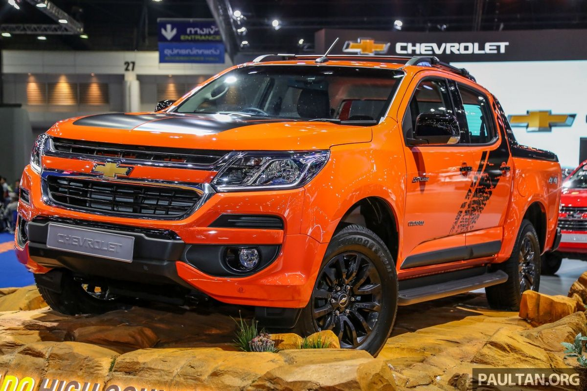 Bangkok 2018 Chevrolet Colorado In Orange Crush