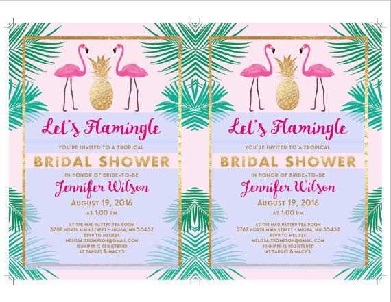 Letu0027s Flamingle Bridal Shower Invitation by JazzHandsPaperCo LETu0027S - invitation templates for farewell party
