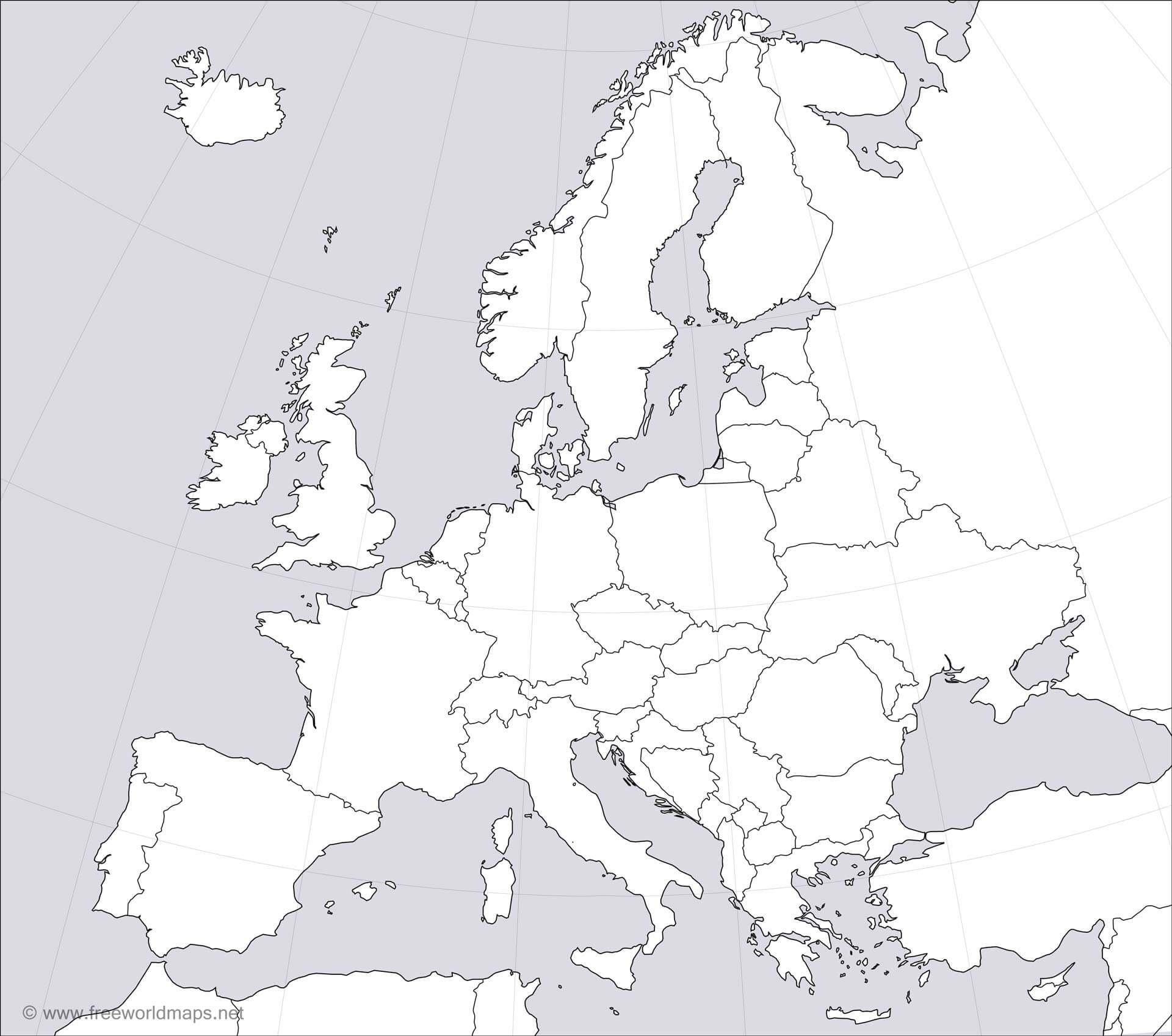 blank map of europe 1919 europe blank map hd. (1920×1697) | World history map, Europe
