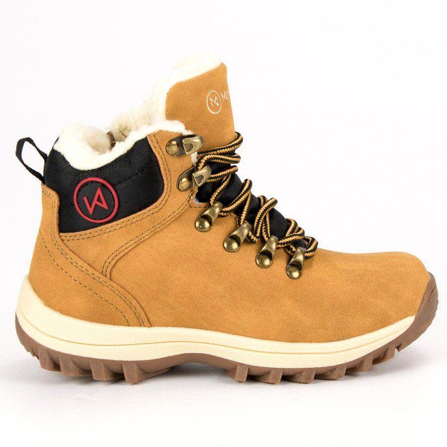 Kozaki Dla Dzieci Mckeylor Mckeylor Zolte Obuwie Z Kozuszkiem Mckeylor Hiking Boots Boots Shoes