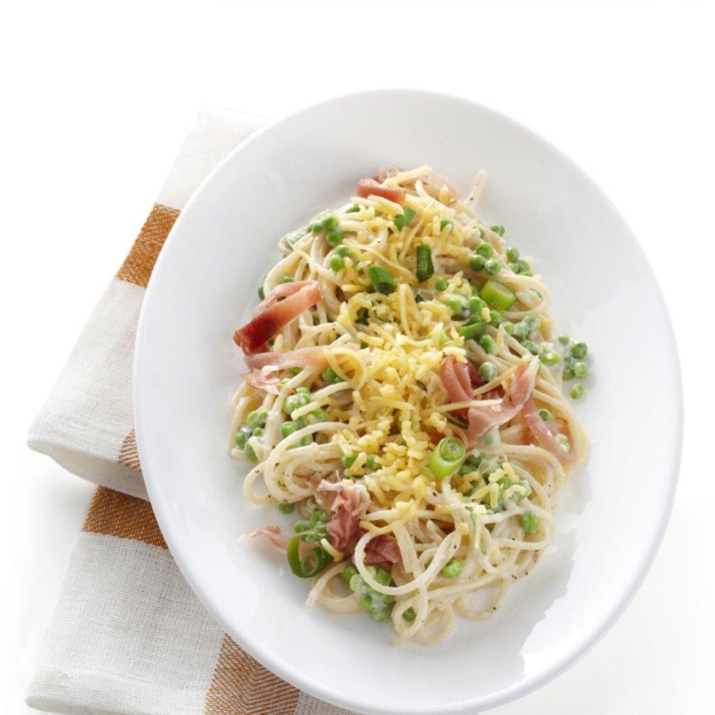 Makkelijk, snel en lekker recept voor romige spaghetti! Ik had kookroom light gebruikt ipv gewone. Kids vonden het ook heerlijk