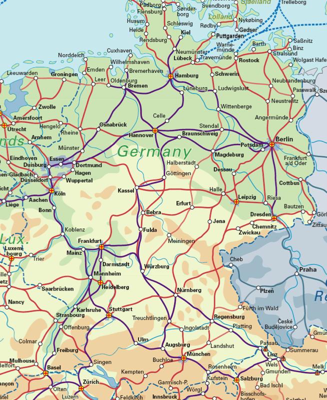 Germany Rail Map Rail Maps Pinterest