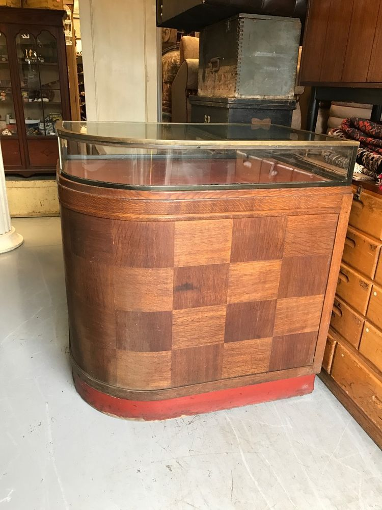 Fine Quality Edwardian Circular Shop Cabinet & Counter. Brass Frame. Offers?