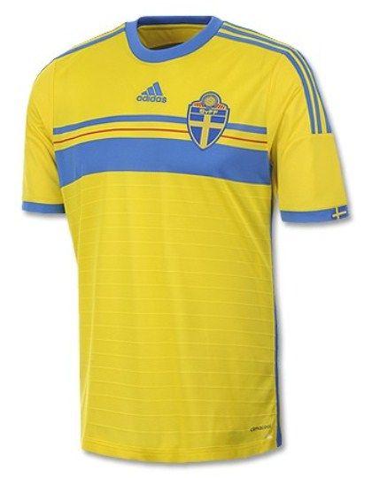 Sweden 2014 Kit- Adidas Swedish Home Jersey 2014 2015 A Seleção 81e9ca629191e