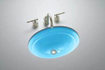 Kohler Vapour Blue Undermount Bathroom Sink With Images