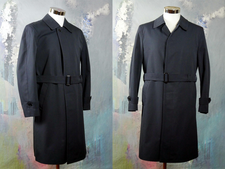 classic numerousinvariety 2019 best Navy Blue Trench Coat, German Vintage Dark Blue Waterproof ...