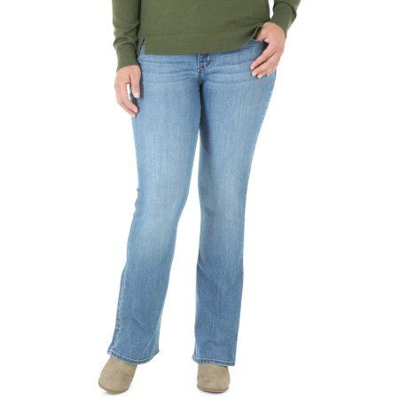 Riders By Lee Women's Slender Stretch Mid Rise Bootcut Jeans, Size: 6M