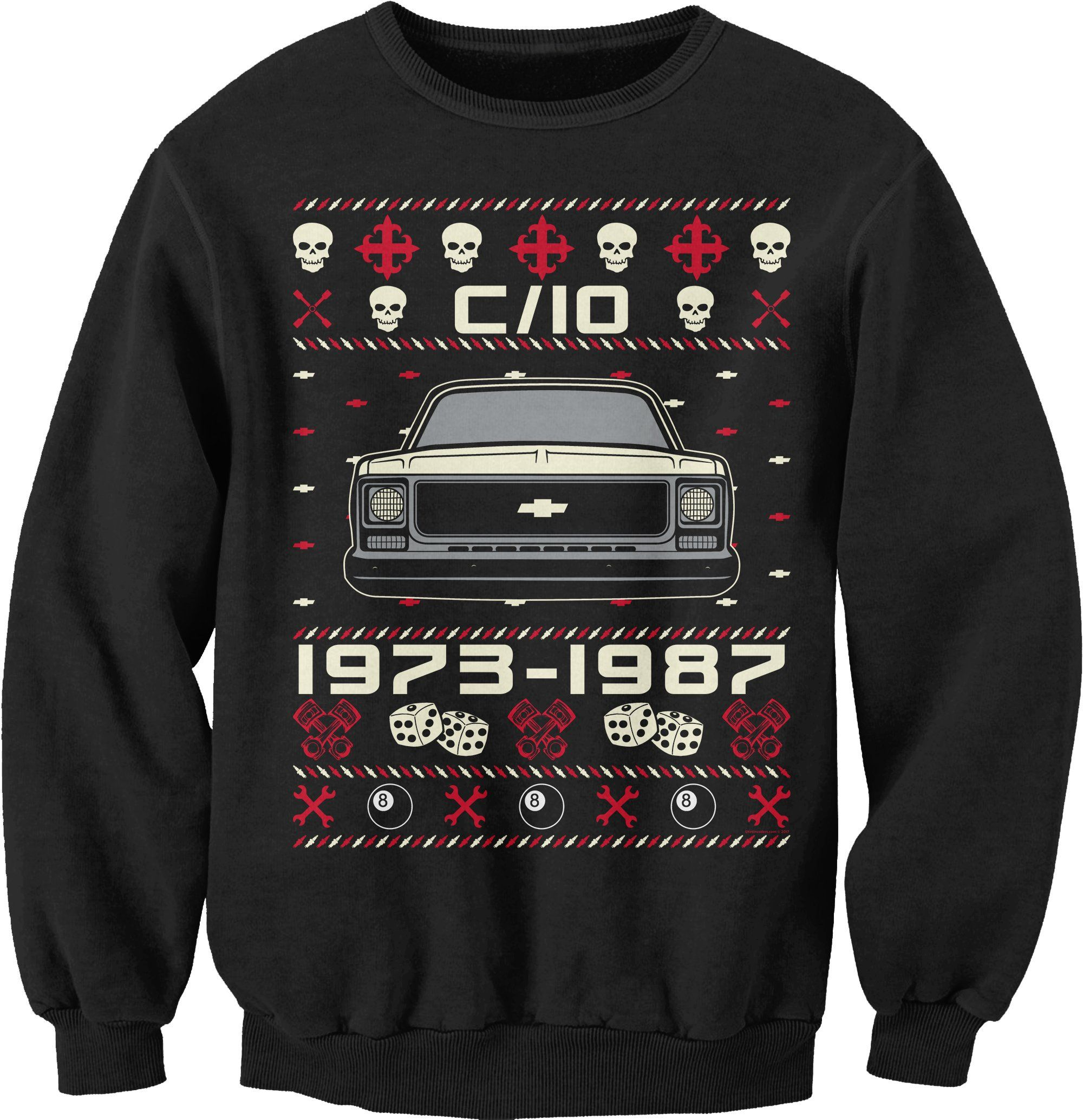 257dcc2b 1973-1987 Chevy C10 - SQUARE BODY - Christmas Sweater Style Sweat Shirt
