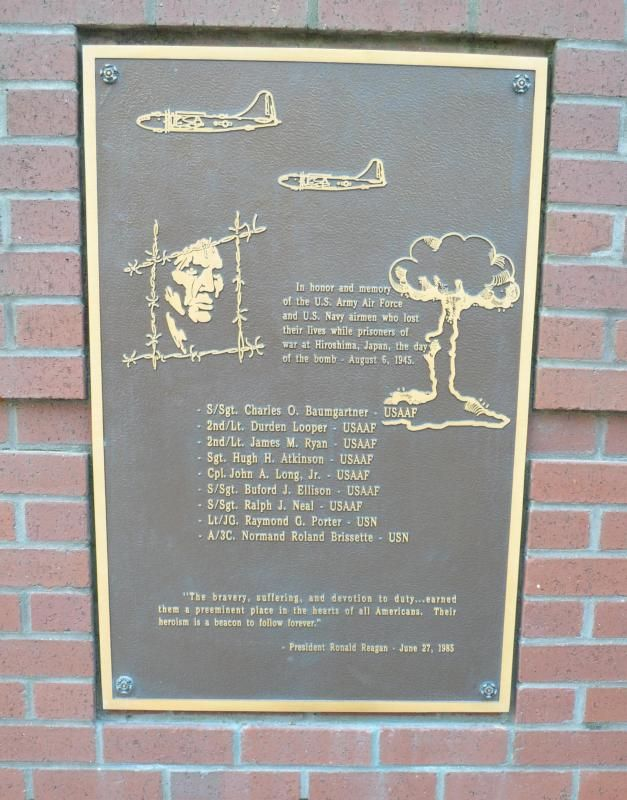 In both the museum courtyard and the commemorative walkway, various organizations have placed plaques commemorating prisoners of war throughout our nation's history.