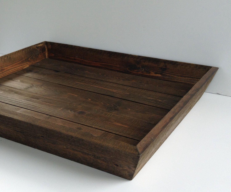 Miraculous Rustic Large Wood Ottoman Tray Party Serving Tray Wood Inzonedesignstudio Interior Chair Design Inzonedesignstudiocom