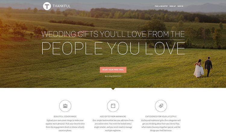 Wedding Gift Registry Website: A Stylish Wedding Registry Puts Design Thinking To Work