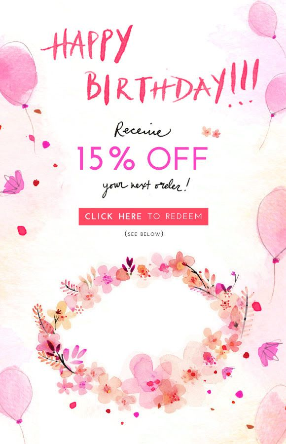 Happy Birthday From Free People Receive 15 Off Your Next Order Click Here To Redeem See Be Happy Birthday Email Birthday Email Email Marketing Inspiration