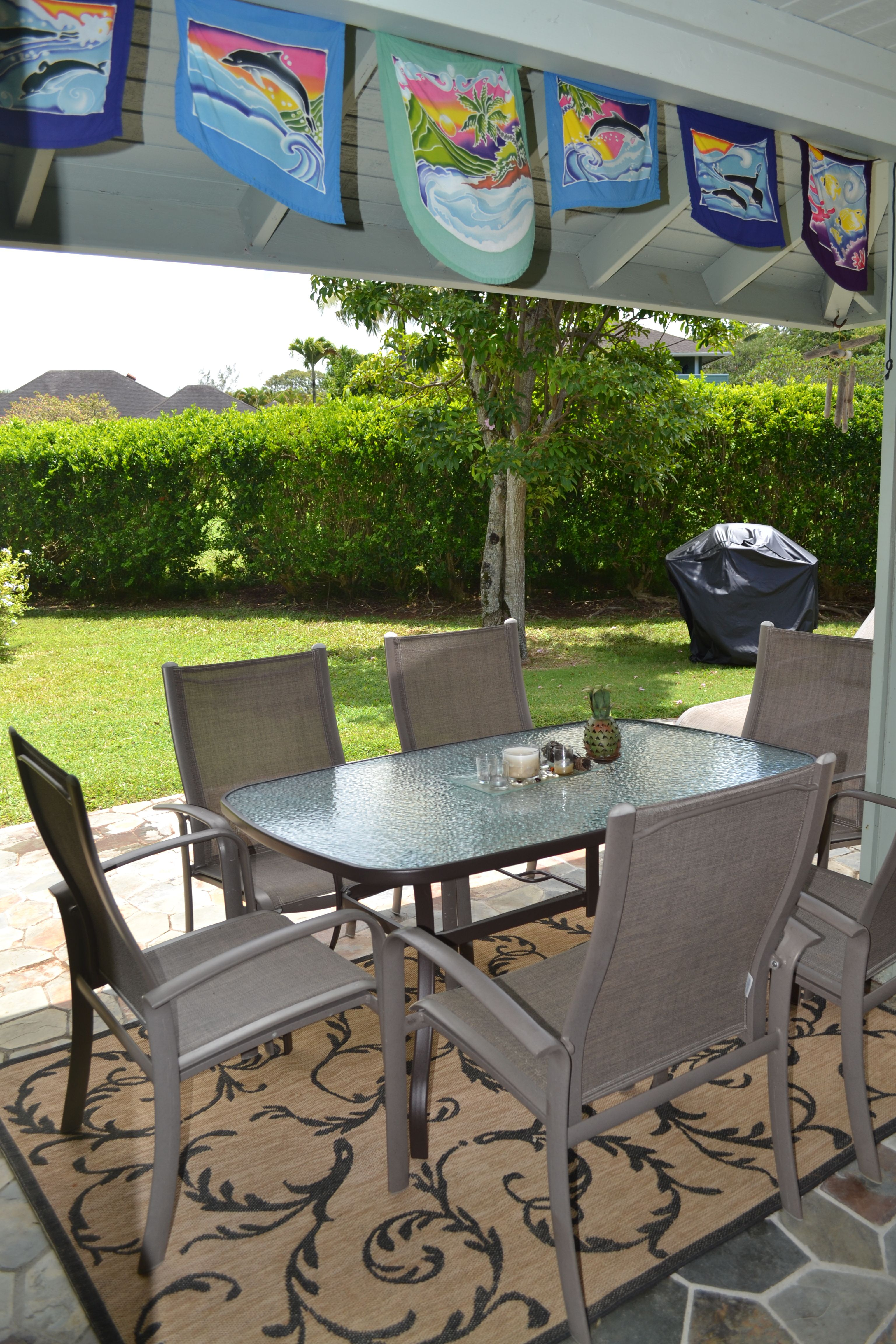 Relax And Dine On The Lanai Kauai Vacation Home Rental Ka Pua Hale Http Hawaiivaca Kauai Vacation Kauai Vacation Rentals Outdoor Furniture Sets