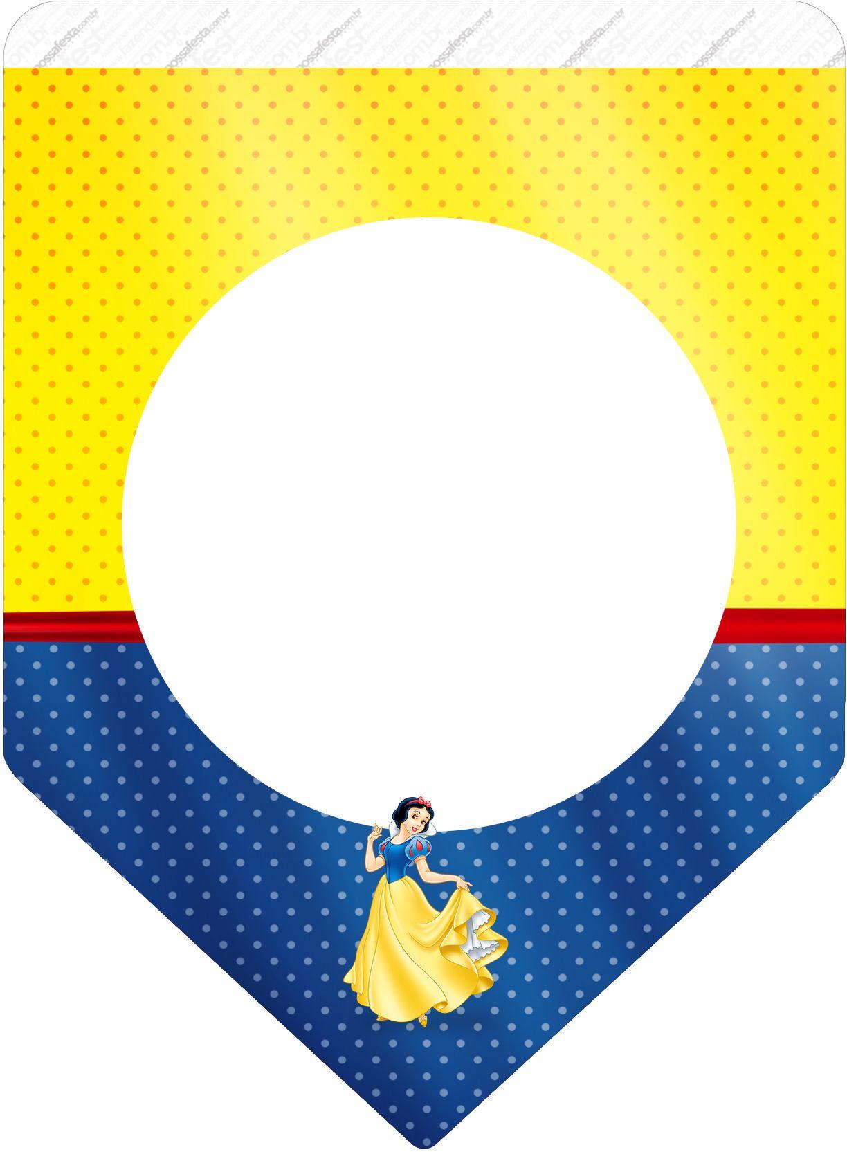Bandeirinha Varalzinho Festa Branca De Neve Com Imagens Branca