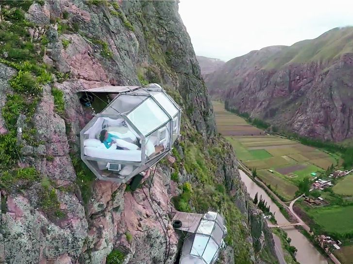 Cliff Hanging Sleep Pods Take Glamping To New Heights