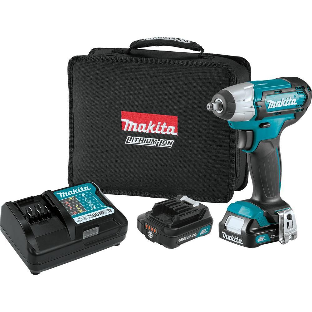 Makita 12 Volt Max Cxt Lithium Ion Cordless 3 8 In Square Drive Impact Wrench Kit Wt02r1 Makita Impact Wrench Impact Driver