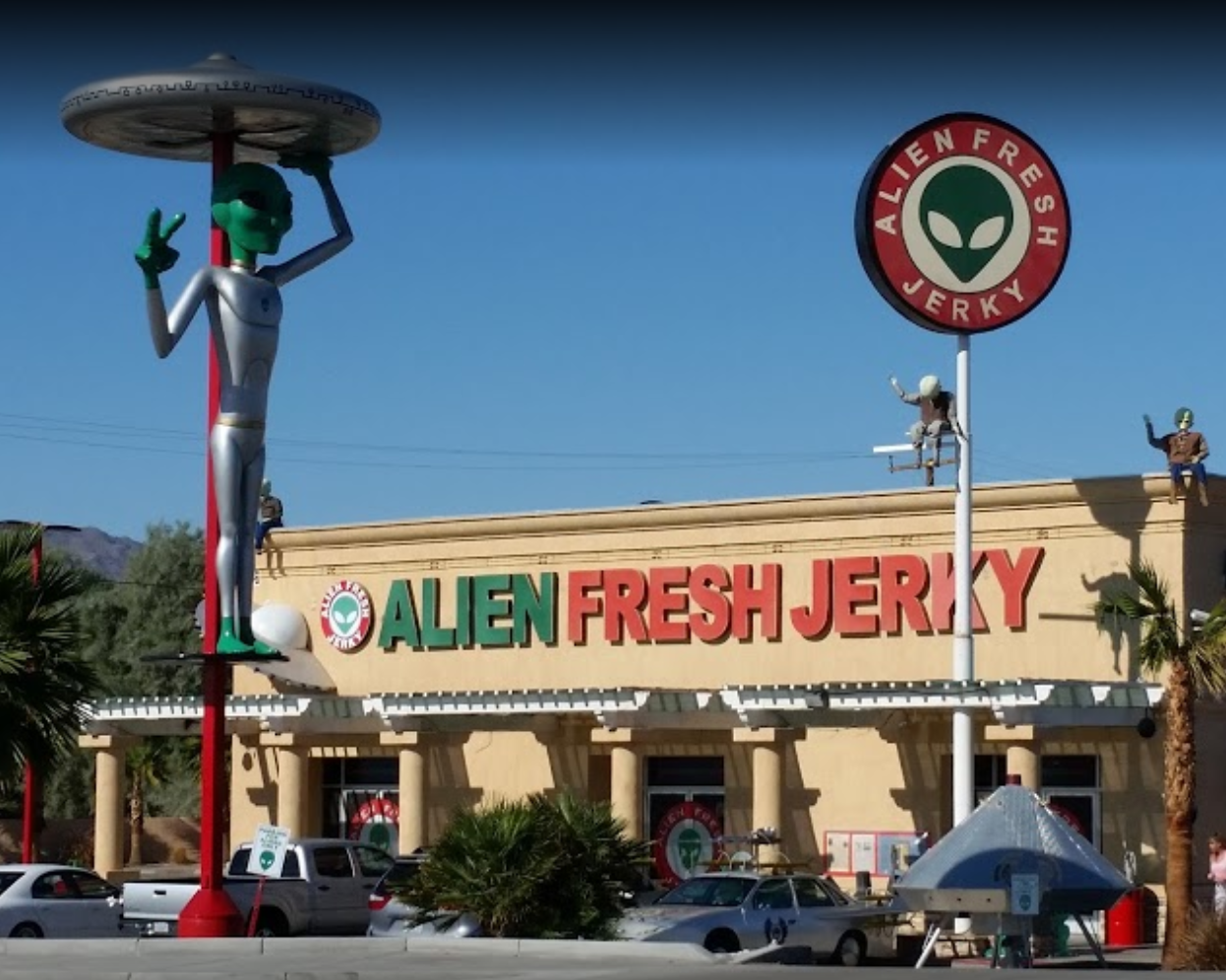 Alien Fresh Jerky.. on the way to Vegas (Baker, CA) | Things to Do ...