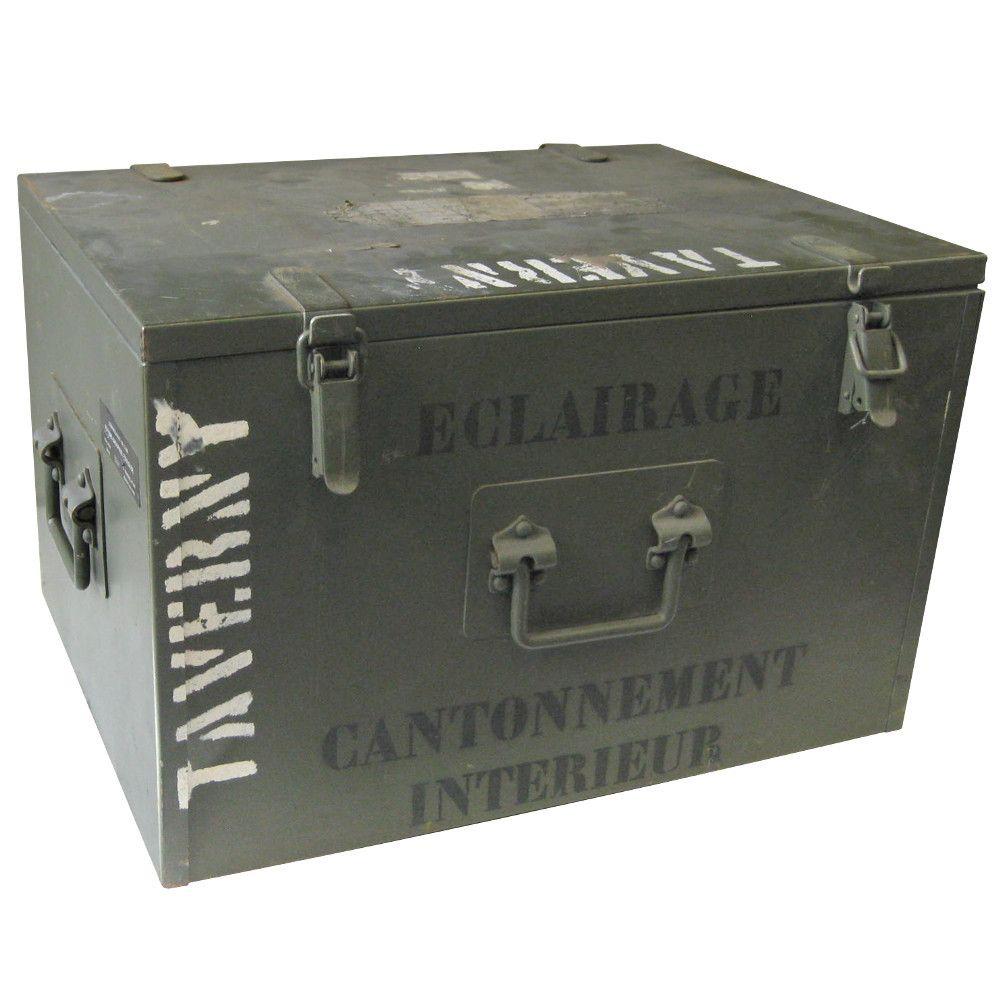 French Army Metal Storage Box  sc 1 st  Pinterest & French Army Metal Storage Box | Storage Boxes | Pinterest