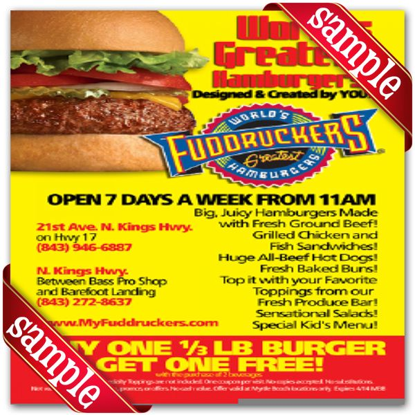 graphic relating to Fuddruckers Coupons Printable called Fuddruckers Printable Coupon December 2016 Printable
