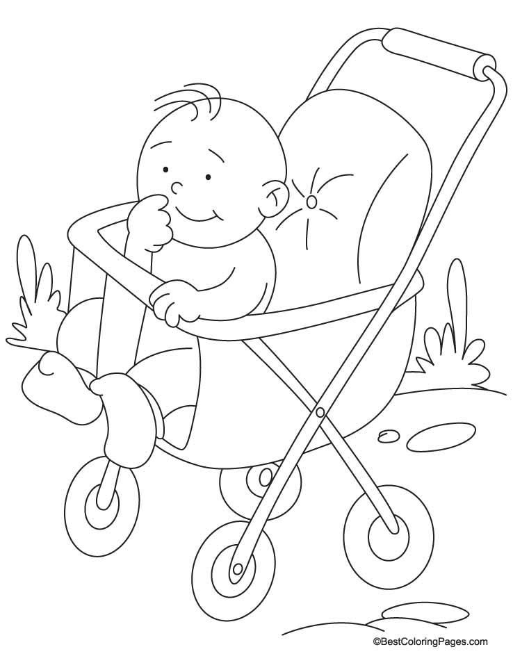 pram coloring page 1 download free pram coloring page 1 for kids best coloring