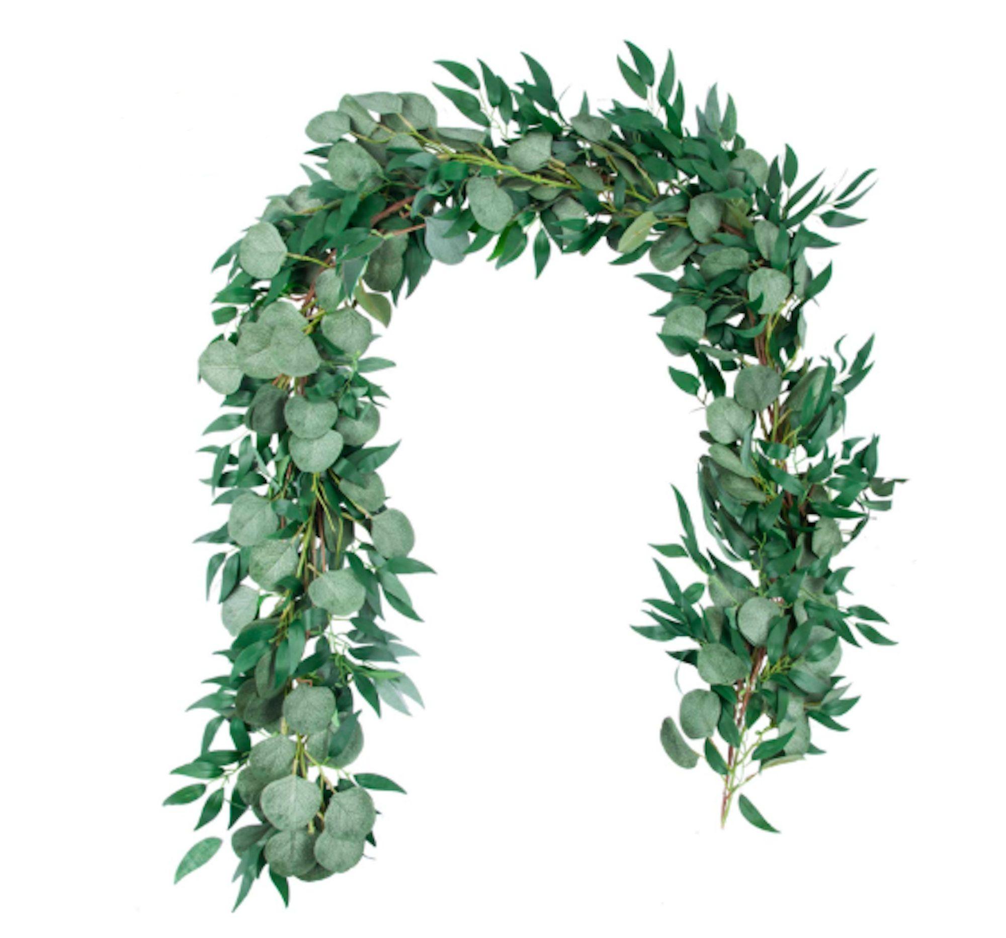 Artificial Silver Dollar Eucalyptus Leaves Plant Garland Greenery Wedding Decor