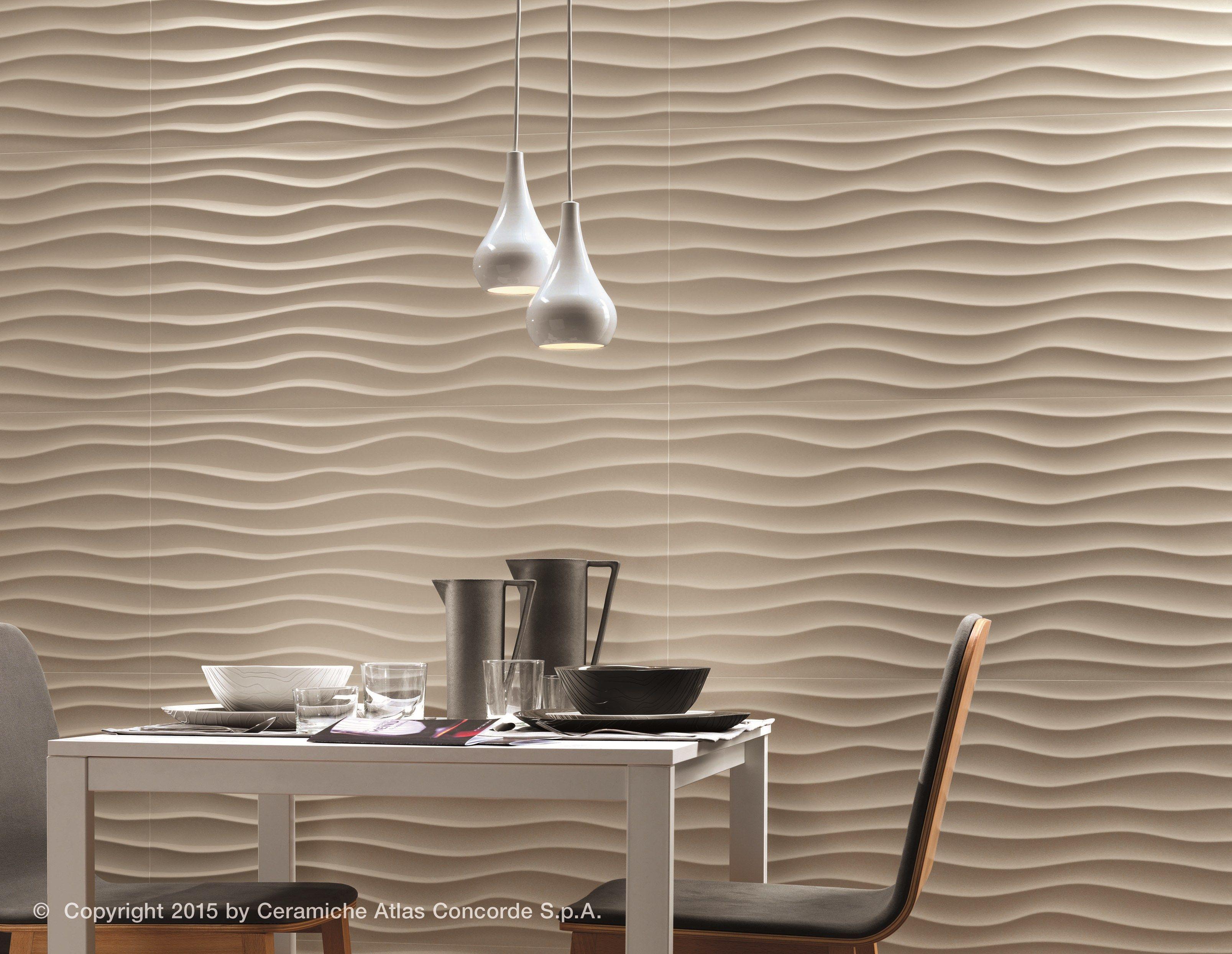 3d Wandverkleidung Aus Weissscherbige Keramik 3d Wall Design Dune By
