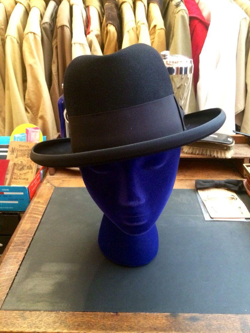 Vintage Men s 1930s Park Lane Homburg Hat in Black by BriarVintage ... 43734871b1b