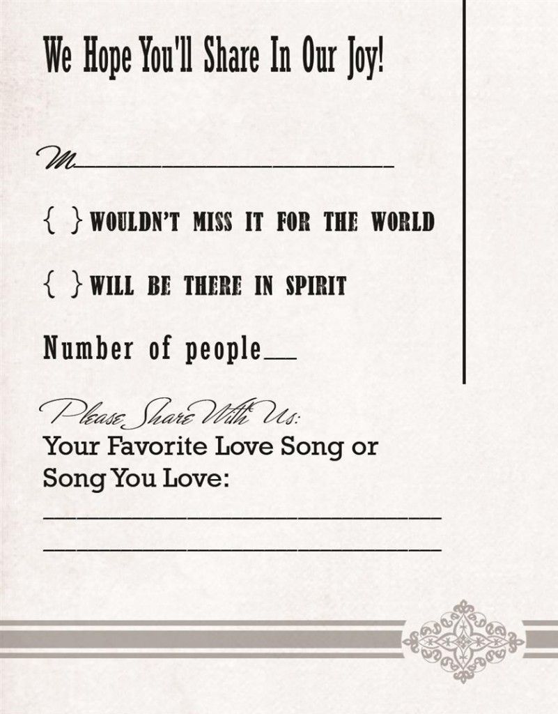 love the wording for the reply cards Wedding wishes, Wedding