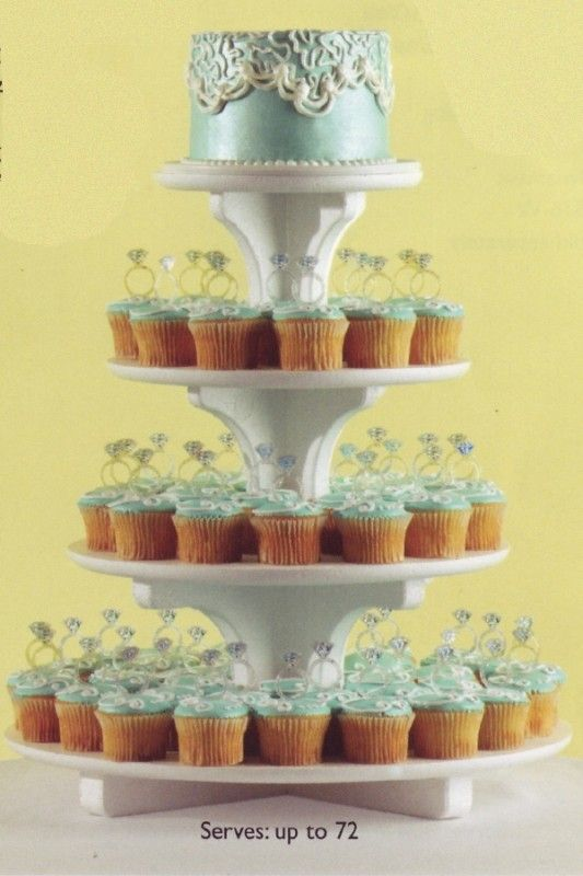 Cupcake stand -- different colors of course | Wedding | Pinterest ...