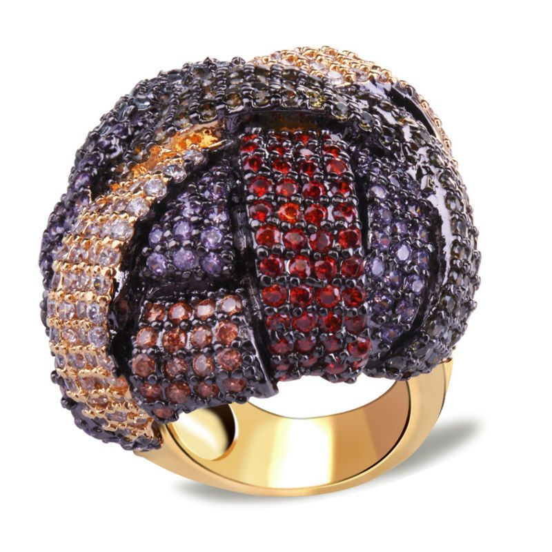 Big Chunky Women Fashion Rings Hot Selling Synthetic Multiple