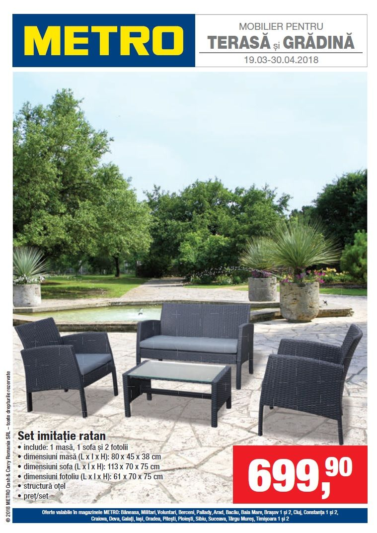 Catalog Metro Terasa Si Gradina Aprilie 2018 Catalog Az Outdoor Furniture Sets Furniture Sets Outdoor Decor