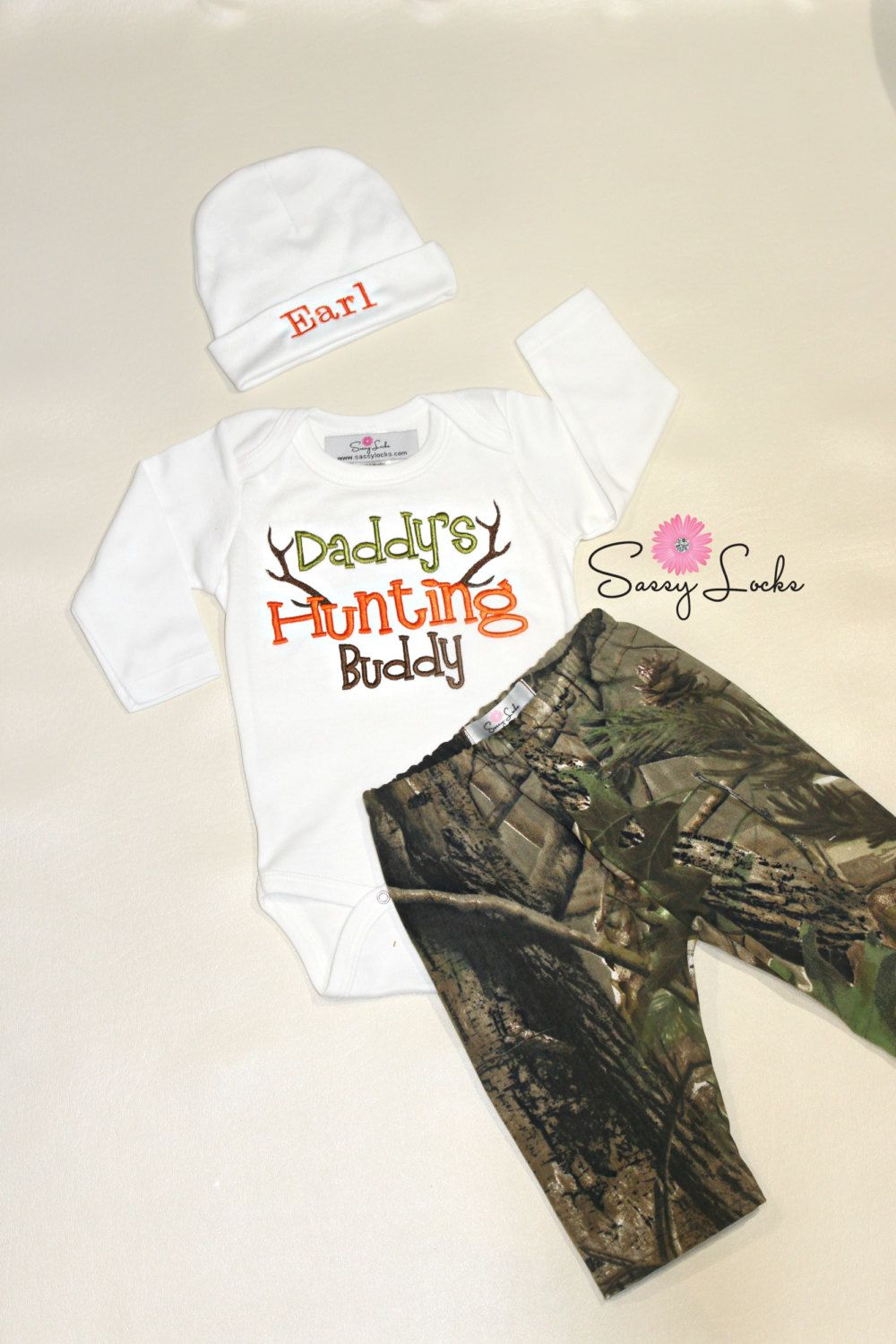 b5ebff18c Baby Deer Hunting Baby Boy Newborn Take Home Outfit Stag Hunting Baby  Outfit Hunters Camo Outfit
