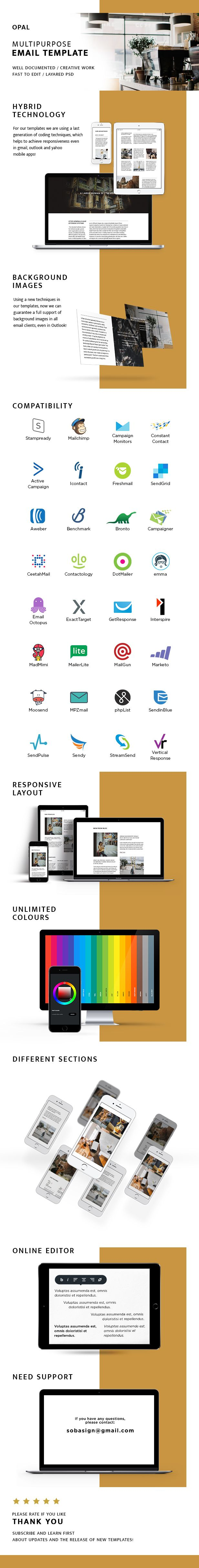Opal C Responsive Email StampReady Builder  Mailchimp