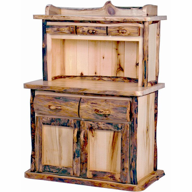 Beautiful Buffet In Kitchen  Rustic Aspen Kitchen Hutchlove Impressive Small Hutches Dining Room Review