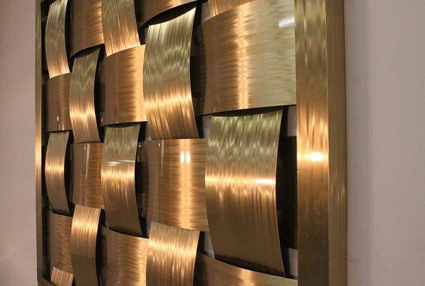 metal wall panels interior design to create warmth - Interior Wall Design Materials